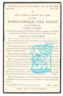 DP Marie Coralie Van Hecke ° Woubrechtegem Herzele 1846 † Dendermonde 1931 X Emile Clément - Imágenes Religiosas