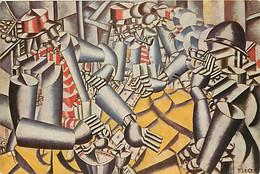 Art - Peinture - Fernand Léger - Kaartspelende Soldoten 1917, Olleverf - Soldiers Playing Cards - Carte Neuve - CPM - Vo - Pittura & Quadri