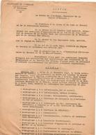 Arrêté Préfecture De L'Ardèche 1° Division Préfet De L'Ardèche Pour La Durée Du Travail Ne Devant Pas Excéder 35 H 1940 - Sin Clasificación