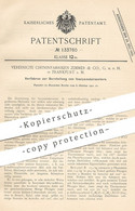 Original Patent - Vereinigte Chininfabriken Zimmer & Co. GmbH , Frankfurt / Main , 1901 , Isocyansäureester   Säure !! - Documentos Históricos