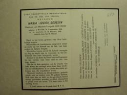 BP 687 - ROBESYN MARIA - KORTRIJK 09.09.1890 - KORTRIJK 24.02.1959 - ZIE 2 FOTO'S - Imágenes Religiosas