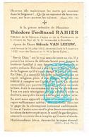DP Théodore Ferd. Rahier ° Vertrijk Boutersem 1862 † Uccle Ukkel 1932 X Sidonie Van Leeuw - Imágenes Religiosas