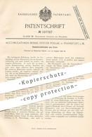 Original Patent - Accumulatoren Werke System Pollak , Frankfurt / Main , 1898 , Sammlerelektroden Aus Eisen  Elektrode - Documentos Históricos