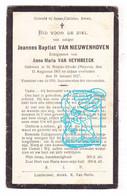 DP Joannes Bapt. Van Nieuwenhoven ° Sint-Brixius-Rode Meise 1861 † 1927 X Anna Maria Van Heymbeeck - Imágenes Religiosas