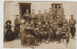 La Courtine-Militaires Au Bistrot- Carte Photo  (E.1862) - La Courtine