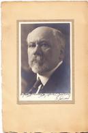 Autographe De Raymond POICARÉ Sur Photographie De Henri Martinie (Paris 8, 19 Rue De Penthièvre) (ma Réf.029) - Autógrafos