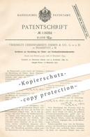 Original Patent - Vereinigte Chininfabriken Zimmer & Co. GmbH , Frankfurt / Main   Chinin- & Cinchonidinkohlensäureester - Documentos Históricos