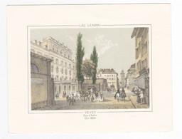 Litho Gravure ? Suisse Lac Léman VEVEY Rue D'Italie En 1850 - Sin Clasificación