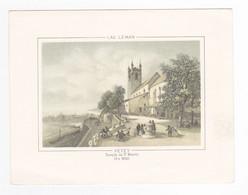 Litho Gravure ? Suisse Lac Léman VEVEY Temple De St Martin En 1850 - Sin Clasificación