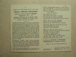 BP 688 - GELDHOF ALBERIK - KORTRIJK 15.10.1892 - KORTRIJK 04.03.1969 - ZIE 2 FOTO'S - Imágenes Religiosas