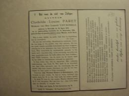 BP 690 - PARET CLOTHILDE - KORTRIJK 30.04.1878 - KORTRIJK 14.09.1954 - ZIE 2 FOTO'S - Imágenes Religiosas