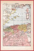 Algérie Française. Carte Avec Départements, Chemin De Fer. Scènes De Vie, Illustration M Dessertenne. Larousse 1922. - Documentos Históricos