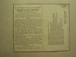 BP 695 - GELDHOF CONSTANT - KORTRIJK 19.10.1887 - KORTRIJK 25.03.1950 - ZIE 2 FOTO'S - Imágenes Religiosas