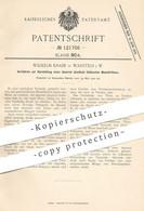 Original Patent - Wilhelm Knabe , Warstein , 1900 , Plastischer Modellierton   Ton , Gips , Formen , Plastiken !! - Documentos Históricos