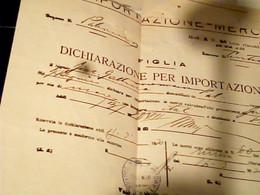 LETTERA  DOGANA PALERMO DA  GERMANIA DICHIARAZIONE PER IMPORTAZIONE 1930  HX3552 - Italia