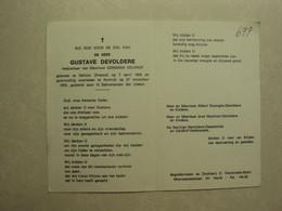 BP 697 - DEVOLDERE GUSTAVE - HALLUIN (FRANCE) 07.04.1893 - KORTRIJK 27.11.1972 - ZIE 2 FOTO'S - Imágenes Religiosas