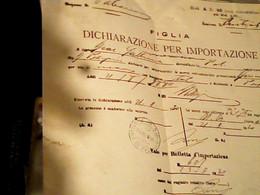 LETTERA  DOGANA PALERMO DA  GERMANIA DICHIARAZIONE PER IMPORTAZIONE 1930  HX3553 - Italia