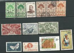 Lot De 13 Timbres De Madagascar  Oblitéré - Ad 43001 - Used Stamps
