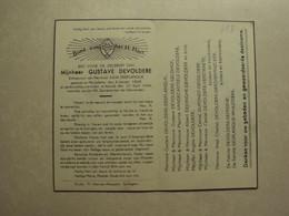 BP 698 - DEVOLDERE GUSTAVE - MEULEBEKE 03.01.1868 - KORTRIJK 21.04.1944 - ZIE 2 FOTO'S - Imágenes Religiosas