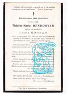 DP Thérèse Marie Dendooven ° Outgaarden Hoegaarden 1830 † Tirlemont Tienen 1910 X Louis Moreau - Imágenes Religiosas