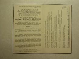 BP 699 - DEVOLDERE GUSTAVE - MEULEBEKE 03.01.1868 - KORTRIJK 21.04.1944 - ZIE 2 FOTO'S - Imágenes Religiosas