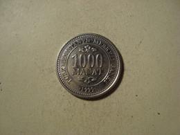MONNAIE TURKMENISTAN 1000 MANAT 1999 - Turkmenistan