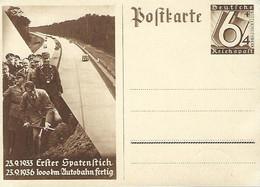 Luxembourg - Luxemburg -  Postkarte - Deutsches Reich - Erster Spatenstich 1933 - 1000 Km. Autobahn Fertig 1936 - Weltkrieg 1939-45