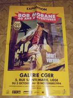 Bob Morane  Affiche Exposition 50 Ans D'aventures Liege 1993  Joubert Vernes   Format  40 X 62 Bon Etat - Afiches & Offsets