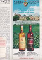 (pagine-pages)PUBBLICITA' VINI RICASOLI  Grazia1969/1501. - Otros