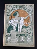SCÈNA ILLUSTRATA  NOVEMBRE 1900» LITTÉRATURE, ART,SPORT»Edit PILADE POLLAZZI, Couverture C.CASALTOLI. (ART NOUVEAU ) - Otros