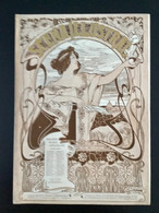 SCÈNA ILLUSTRATA  SEPTEMBRE 1899» LITTÉRATURE, ART,SPORT»Edit PILADE POLLAZZI, Couverture C.CASALTOLI. (ART NOUVEAU ) - Otros