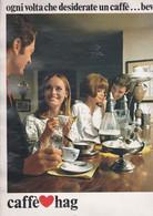 (pagine-pages)PUBBLICITA' CAFFE' HAG  Grazia1969/1501. - Otros