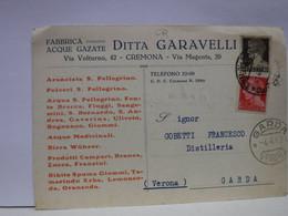 CREMONA  --   DITTA GARAVELLI  -- FABBRICA ACQUE GAZATE - Cremona