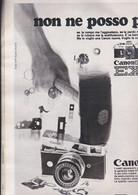 (pagine-pages)PUBBLICITA' CANON  Grazia1969/1501. - Otros
