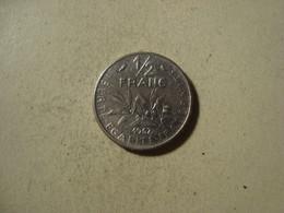 MONNAIE FRANCE 1/2 FRANC SEMEUSE 1967 - G. 50 Céntimos
