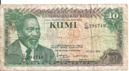 KENYA 10 SHILLINGS 1978 VF P 16 - Kenia