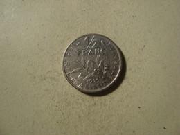 MONNAIE FRANCE 1/2 FRANC SEMEUSE 1969 - G. 50 Céntimos