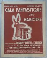 Affiche ORIGINALE 40 X 30  Grand GALA Fantastique 1945 FILM FANTASMAGORIQUE De Georges Méliès - Posters