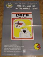 Cubitus Affiche Promotionnelle B.D Charleroi 1989 Format 40 X 60 Dupa Bon Etat - Afiches & Offsets