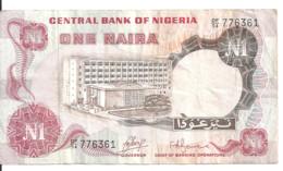NIGERIA 1 NAIRA ND1973 VF P 15 A - Nigeria