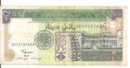 SOUDAN 200 DINARS 1998 VF P 57 B - Sudan