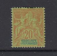 Guadeloupe, Scott 36 (Yvert 33), MHR - Unused Stamps