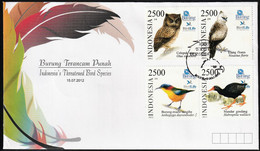 2012 Indonesia Threatened Birds FDC - Unclassified