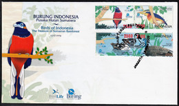 2009 Indonesia Birds Of Sumatran Rainforest FDC Set - Unclassified