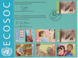 United Nations Special Card With Mi 605 Economic And Social Council (ECOSOC) - Combat HIV/AIDS, Malaria & Other Diseases - Cartas