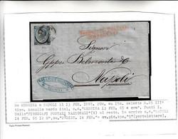 """Messina Per Napoli, Cover Con Bel Contenuto Commerciale+ """" Piroscafi Postali Nazionali """" 1865 ( Leggi Descrizione Sotto) - Marcophilie"""