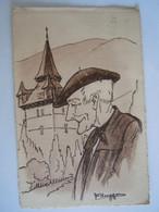Illustrateur F. Huygen Retour Au Village Paysan Basque Beret Nr 14 Circulée 1937? - Other Illustrators