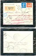 RHONE ENV 1912 LYON GROLEE LR => TASSIN ET RETOURNOMBREUSES MENTIONS DE RECHERCHES ET DE RETOUR SUR LR 1912 SUPERBE - 1877-1920: Semi Modern Period
