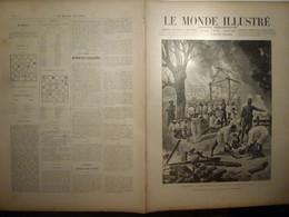 Le Monde Illustré 8 Fevrier 1896 2028 Madagascar Attaque Tanymandry Sakalaves Barcelone La Bièvre Rue De Tolbiac - Revistas - Antes 1900