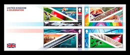 Great Britain 2021 Mih. 4725/28 (Bl.140) A Celebration. Football. Formula 1. Science And Technology. Music. TV MNH ** - Unused Stamps